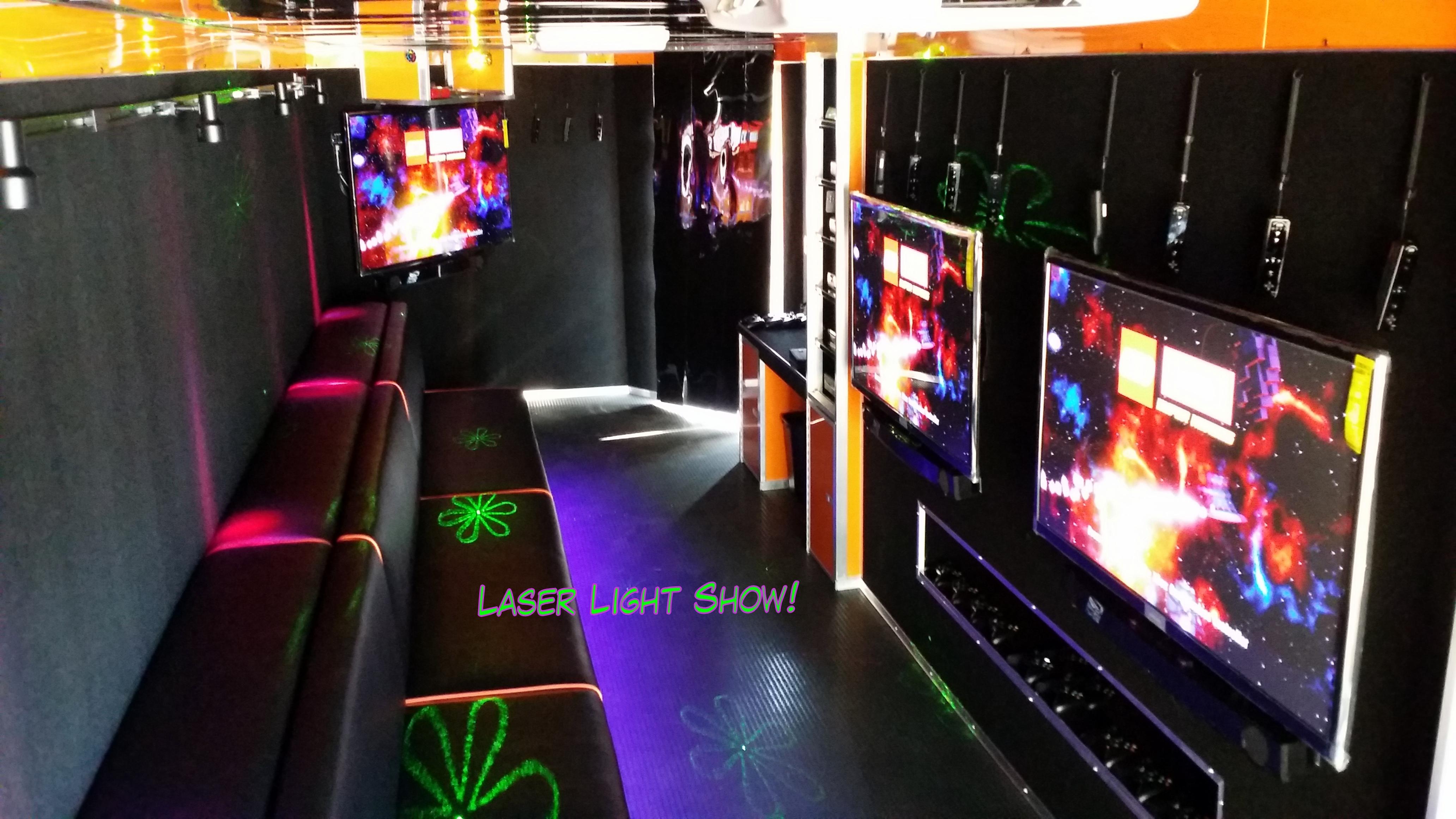 Interior From Back Door Laser Light Show Rockin
