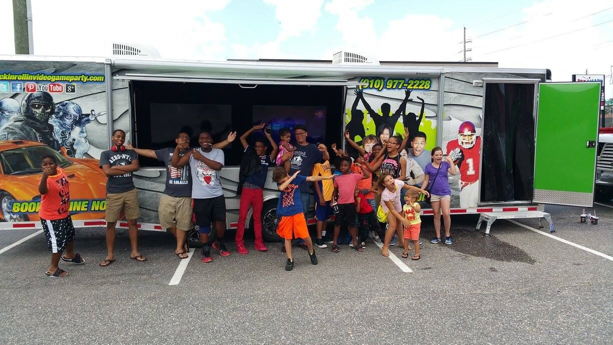 Video game truck birthday party in North Carolina, Lee County, Moore County, Scotland County, Montgomery County